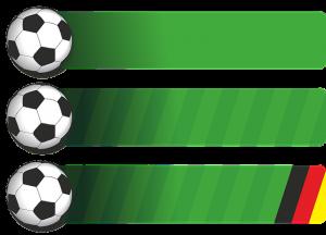 Auf diesem Bild ist eine Tabelle zu sehen auf hellgrauen Hintergrund. Jeder einzelne Punkt in der Tabelle ist linksbündig mit einem Fussball gekennzeichnet. Neben dem Fussball verläuft ein grüner Balken der den Rasen imitieren soll, je weiter der Balken nach rechts geht desto heller wird der Grünton.